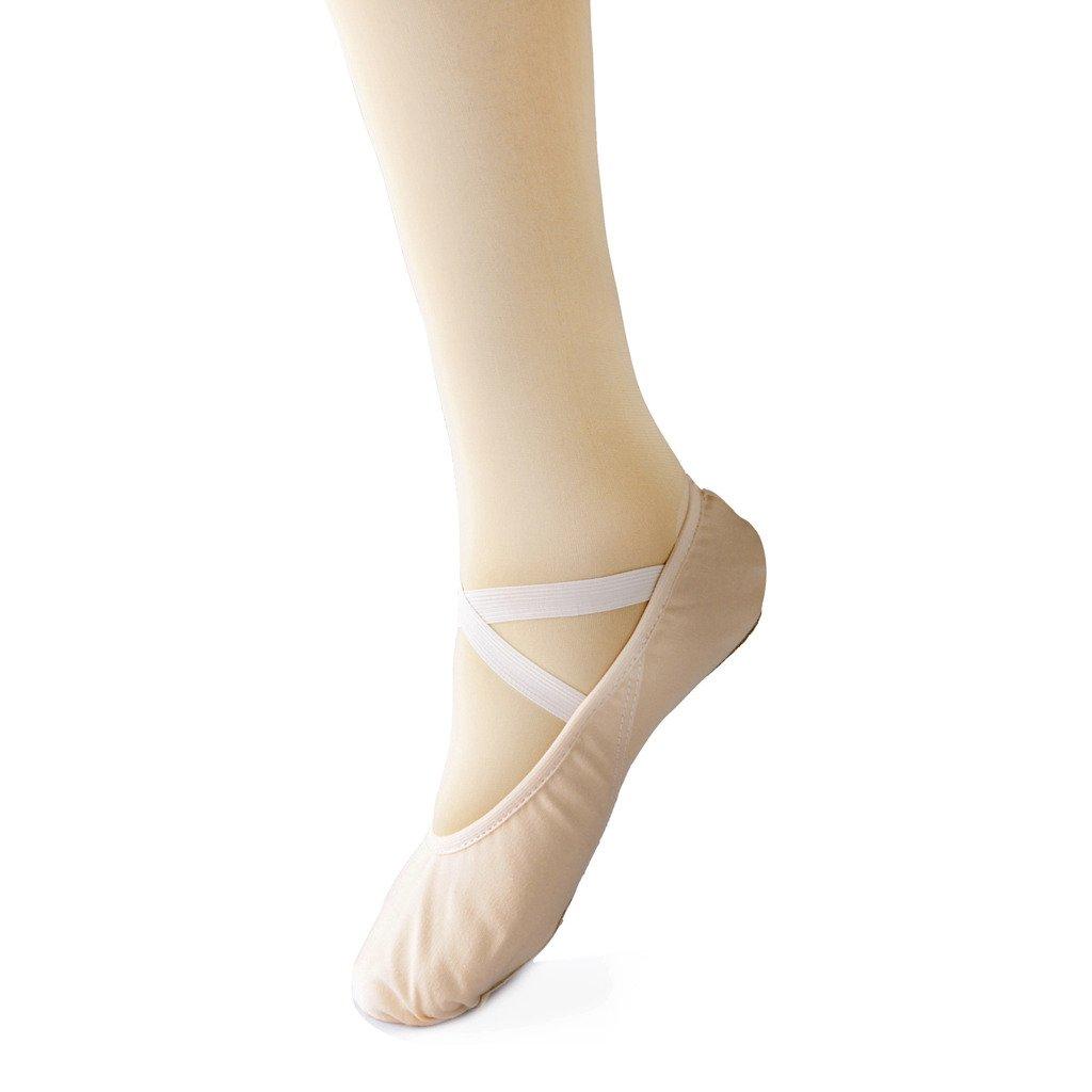 Scarpe Danza Classica Tela Morbido Scarpe da Ballo Scarpette da Danza con  Suola Diviso in Pelle Ginnastica Ballo Pantofole per Le Ragazze delle  Signore ... c0e0bdbf5f7