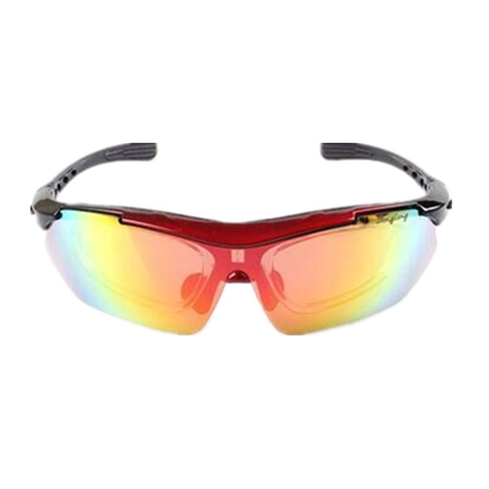 YFFS Cycling Glasses Bicycle Color-Changing Glasses Adult Outdoor Glasses Suitable for Outdoor Cycling Lovers (Color : Red)