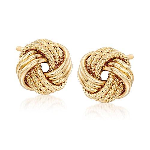 Ross-Simons 18kt Yellow Gold Textured Love Knot Earrings by Ross-Simons (Image #4)