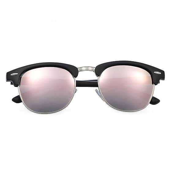 Yveser Gafas de sol polarizadas Clubmaster para hombre y mujer Yv5156 - Rey  del CHOLLO aa631cfd535f