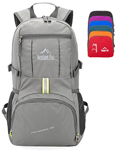 Venture Pal 35L Travel Backpack – Packable Durable Lightweight Hiking Backpack Daypack (Grey) Review
