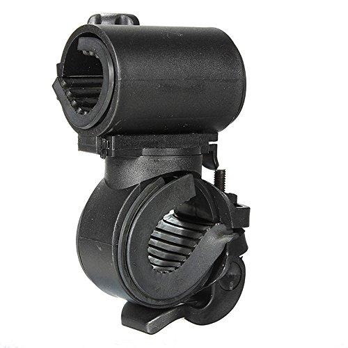 (Ezyoutdoor 360 Degree Bike Flashlight Holder Cycling Bicycle Bike Mount Holder for LED Flashlight Torch Clip Clamp Riding Biking)