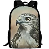 CY-STORE Birds Painting Art Hawk Animals Print Custom Casual School Bag Backpack Travel Daypack Gifts