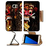 Liili Premium Samsung Galaxy S7 Edge Flip Pu Leather Wallet Case a closeup of colorful traditional balinese masks IMAGE ID 15032865