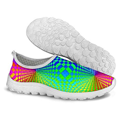 HUGS IDEA Womens Flat Slip On Mesh Shoes Mixed Color6 mAxPwrB