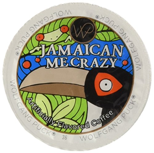 Wolfgang Puck Jamaican Me Crazy Flavored Coffee Single Serve Cups for Keurig, 48Count (Best Jamaican Coffee Brand)