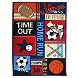 Abreeze Kids Rugs Soccer baseball football basketball With Multi-Color for Boy Girl Playroom 51x 39inch