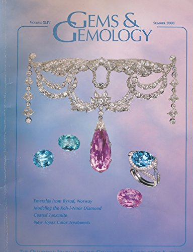 Gems & Gemology : Characterization of Emeralds from a Historical Deposit-Byrud Norway; Use of Laser & X-Ray Scanning to Create a Model of the Historic Koh-i-Noor Diamond; Coated Tanzanite; Coloring of Topaz by Coating & Diffusion Processes ()