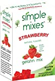 Simple Mixes Natural Strawberry Gelatin Mix, 3.0 oz (Pack of 6)