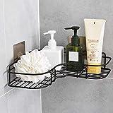 SHOPPOWORLD Multipurpose Self Adhesive Wall-Mounted Corner Storage Rack Bathroom Shelf Organizer Kitchen Basket Cosmetic Hanging Shower Caddy Rack for Soap Shampoo Towel Kitchen Organizer