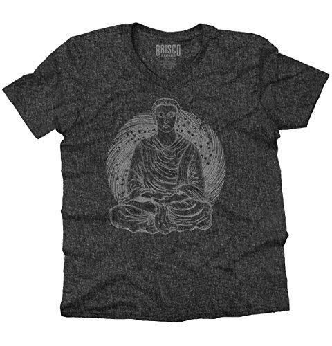 - Brisco Brands Meditate Buddha Symbolic Spiritual Religion V-Neck T Shirt
