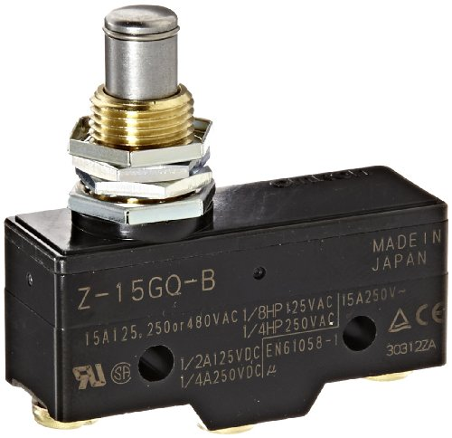 Baomain RZ-15GQ22-B3 General Purpose Basic Switch Panel Mount Roller Plunger Screw Terminal 0.5mm Contact Gap 15A Rated Current