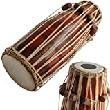Sai Musical Solid Wood HM-0114 Hand Made Pakhawaj Brown Color - A Musical Instrument