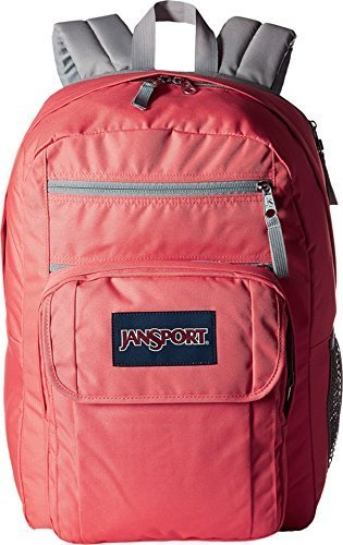JanSport Unisex Digital Student Coral Sparkle/White Dots One Size by JanSport