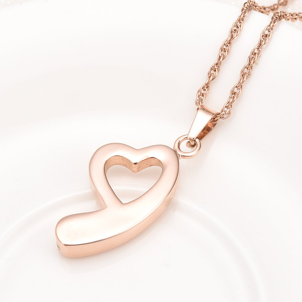 Infinity Love Urn Necklace for Ashes Pendant Stainless Steel Heart Urn Keepsakes Memorial Cremation Jewelry for Ashes
