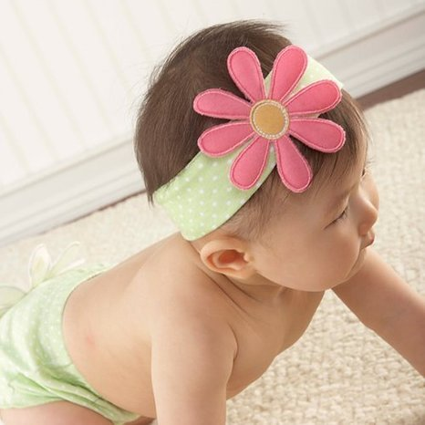 Baby Girl Gift Set - Flower Headband and Booties 0-9 Months