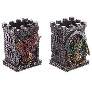 De el castillo ambulante de diseño gótico de la torre de bote para lápices con Dragon. Un regalo ideal para que el regalo de cumpleaños, Navidad o padres day gifts etc...