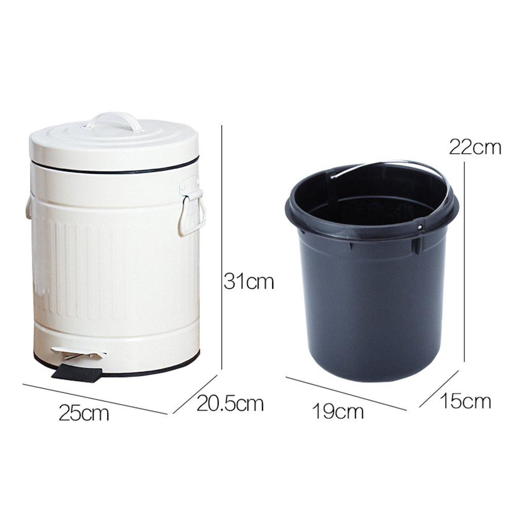 Kreative Retro Rom Covered Fußpedal Typ Abfallausgangs- Wohnzimmer Küche Badezimmer Abfalleimer (eine Vielzahl von Stilen optional) ( farbe : A ) Brisk Mülleimer