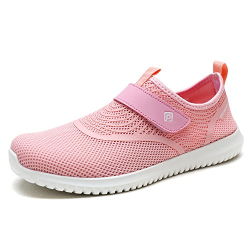 DREAM PAIRS Women's C0210_W Pink Fashion Athletic Water Shoes Sneakers Size 9 M US (Flow Cool Rapid Air)