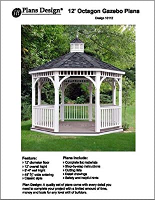 Classic Gazebo Project Plans -Design #10012 by Plans Design