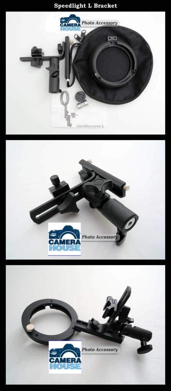 ePhoto Lbracket Speedlight Flash Mount L Bracket Adapter for Most Soft Boxes