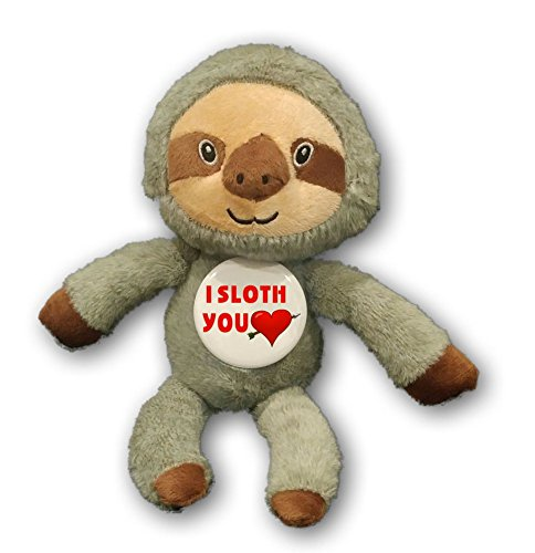 Pinback Button Love (A&T Designs I Sloth You - Love Romantic / Flirty Stuffed Animal Plush Doll w/ Pinback Button (Husband Wife Boyfriend Girlfriend))