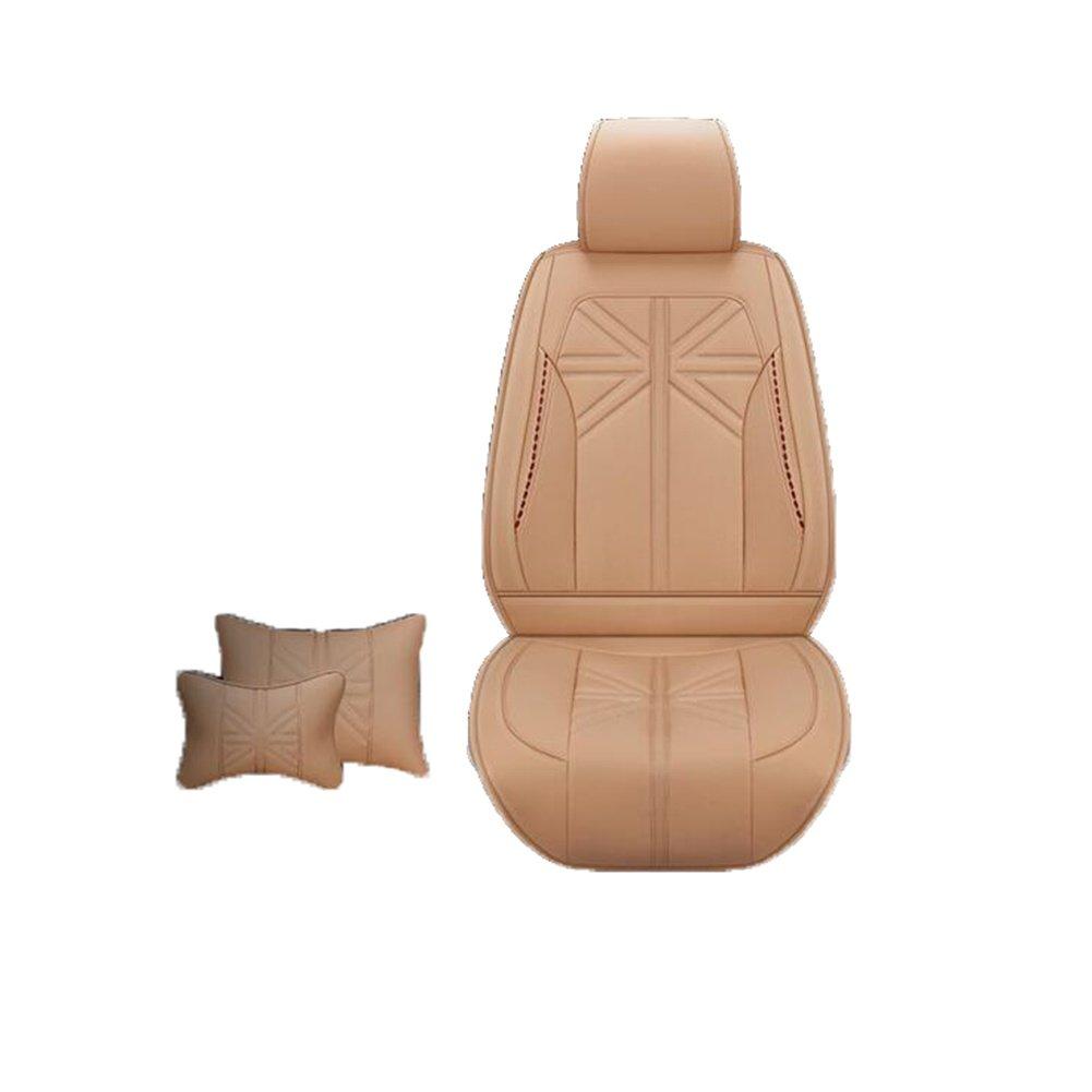 Auto Accessories New Upscale Four Seasons Leather Car Seat, orange
