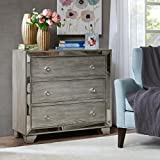Garner 3-Drawer mirrored Chest Reclaimed Grey See below