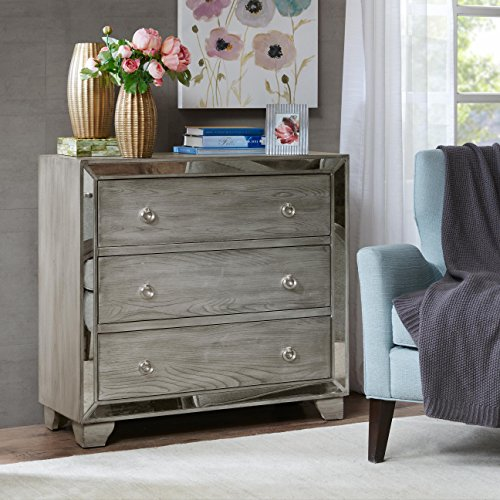 Garner 3-Drawer mirrored Chest Reclaimed Grey See - Madison 3 Drawer