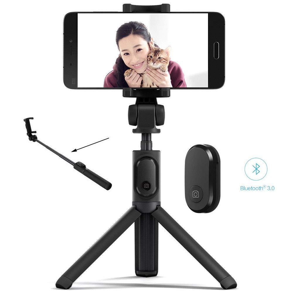 JFJL Selfie Palo Trí pode,Bluetooth Selfie Stick con Trí pode Y Control Remoto Desmontable,Monopod Extensible para iPhone X/XS MAX/XR / 8 Plus / 7, Galaxy S9 / S9 Plus / S8, iOS/Android Phone,Black JFJLSHOP