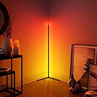 TBOYUAN RGB Floor Lamp, Corner Floor Lamp with Remote Control, RGB Colour Changing Atmosphere Standing lamp, Aluminum…