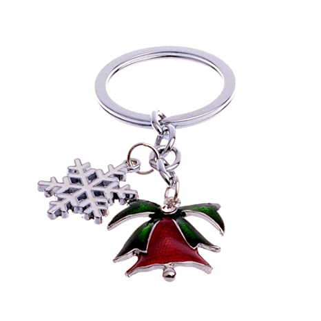 Cute Mini Christmas Tree Design Handbag Keychain Key Ring Decorative