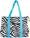 Ever Moda Zebra Print Tote Bag X-Large