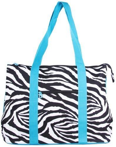 Ever Moda Zebra Print Tote Bag X-Large by scarlettsbags