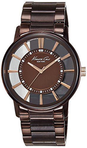 Kenneth Cole New York Men's KC9047 Transparent Clear Brown Ion-Plating Round Watch