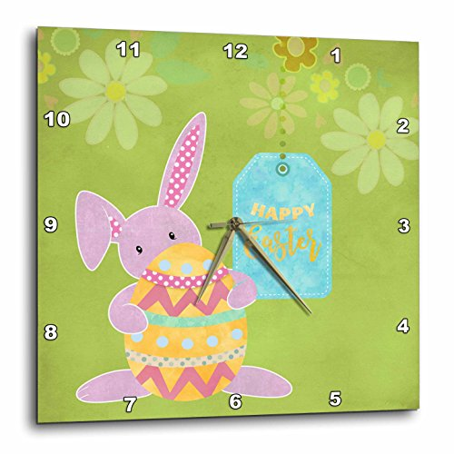 Cute Easter Bunny Illustration With Text Happy Easter
