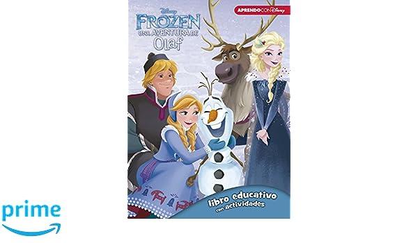 Frozen: una aventura de Olaf Libro educativo Disney con actividades: Amazon.es: Disney, MYR Servicios Editoriales S.L.;: Libros