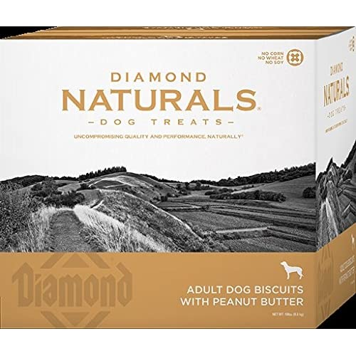 85%OFF Diamond Pet Foods 19 lb Naturals Peanut Butter Biscuits (1 Pack), One Size