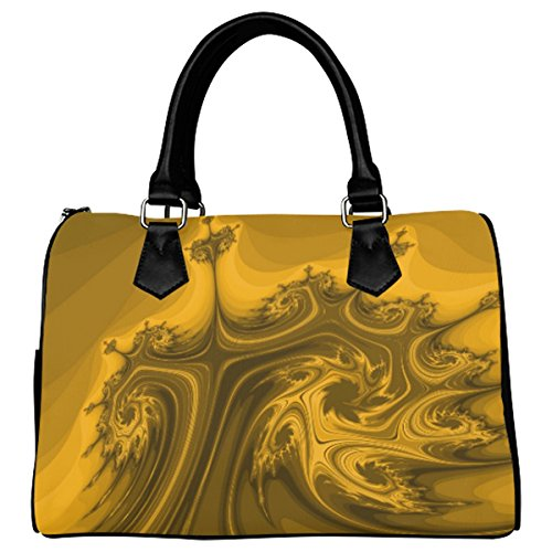 Jasonea Women Boston Handbag Top Handle Handbag Satchel Amazing Fractal Basad196049