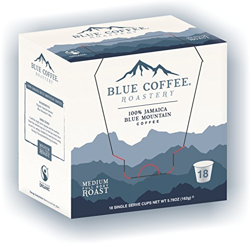 Blue Roastery Genuine Jamaica Blue Mountain Coffee for Keurig 18 ct - Packaging May - Collection Island Estate