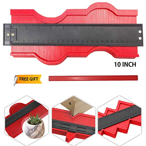 Contour Gauge 10 Inch Profile Gauge, Simple Gauge, Shape Duplicator, Easy Copy Ruler, Professional Tool, Perfect Fit for…