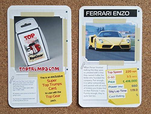 Top Gear TOP TRUMPS Single Card Cool Cars Motors - Ferrari