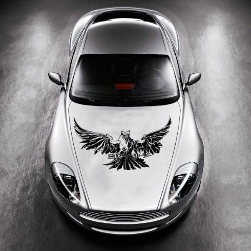 Vinyl Decals for Car Hood Animal Flaming Tribal Eagle, used for sale  Delivered anywhere in USA