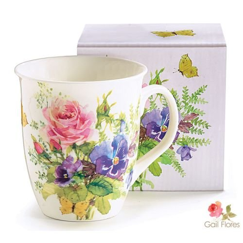 coffee cups flowers - 5