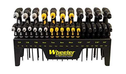 Wheeler 30 Piece SAE/Metric Hex and Torx P-Handle Set for Pistol Rifle Handgun Gunsmithing Rebuild and Maintenance