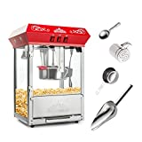 Olde Midway Bar Style Popcorn Machine Maker Popper with 8-Ounce...