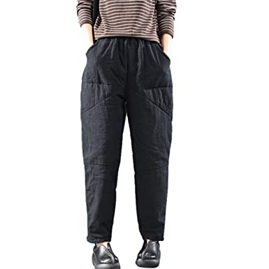 efcb847cc7f Women Vintage Retro Harem Pants Ladies Cotton Linen Baggy Pocket Long  Trousers with Pocket Sport Yoga Trousers  Amazon.co.uk  Clothing