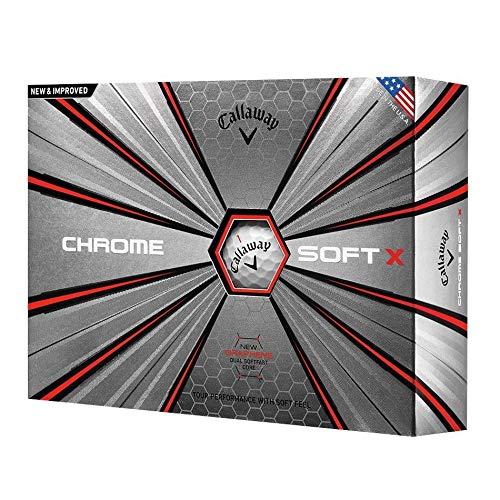 Callaway Golf Chrome Soft X Golf Balls, One Dozen