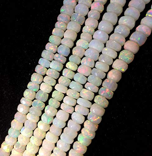 10 Piece of Ehtiopian Opal Faceted rondelle Beads, Opal Beads 4-6mm, Opal Stone by LadoNarayani ()