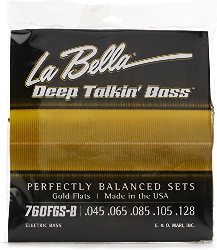 - La Bella Deep Talkin' Bass Gold Flats Electric Bass Strings - 5-string